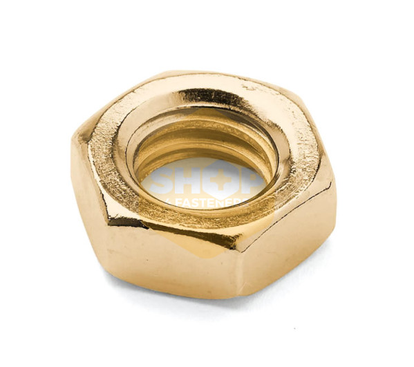 Hexagon Lock Nuts - Metric Brass