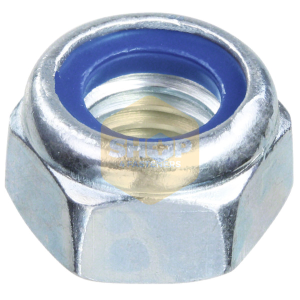 FREE UK DELIVERY 1//4 Unc Nyloc Nuts P Type Zinc Plated Pack Of 100