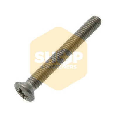 A2 Stainless Steel Pozi Raised Countersunk Machine Screws DIN 966 M6 6mm