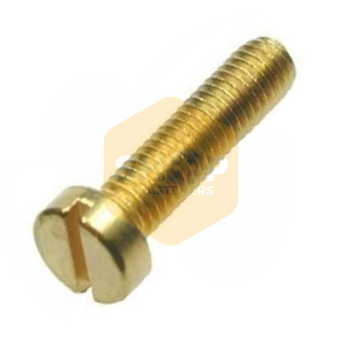 "1//2/"" Whitworth x 1.1//2/"" Round Head Slotted Brass Machine Screws Qty 4-1//2/"" BSW"