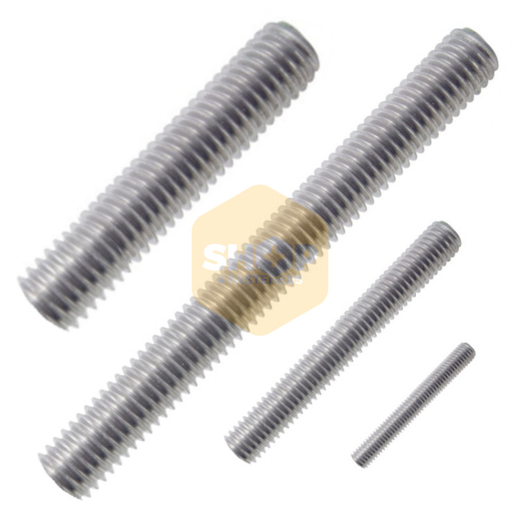 BZP Zinc Plated Steel Threaded Bar Studding Stud Bar with Nuts /& Washers SET