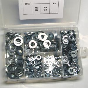 Flat Washer Kit - 500pc (M3 - M12)