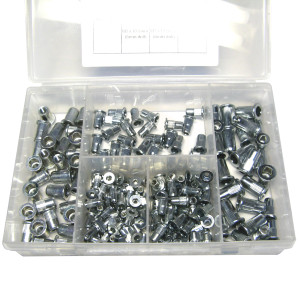 Rivet Nut Kit Large Head Grooved - 200pc (M3 - M6)