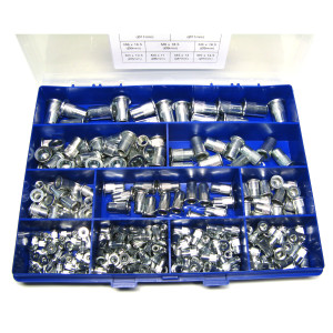 Rivet Nut Kit Large Head Grooved - 300pc (M3 - M10)