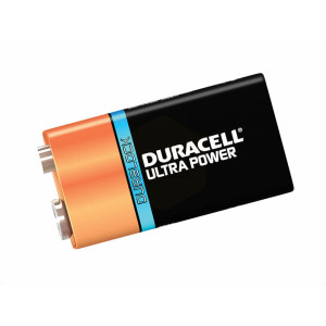 Duracell Ultra Power 9 Volt Square Cell Alkaline Batteries