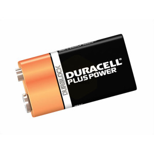 Duracell Plus Power 9 Volt Square Cell Alkaline Batteries