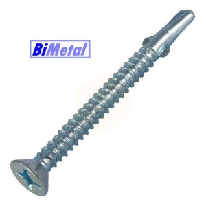 Bi-Metal Countersunk Wing Screws - Light Section