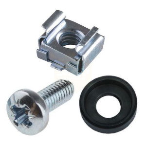 Cage Nuts, BZP Screw & Cup Washer Pack
