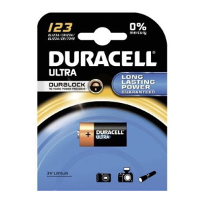 Duracell Ultra 3v CR123 Photo Lithium Batteries