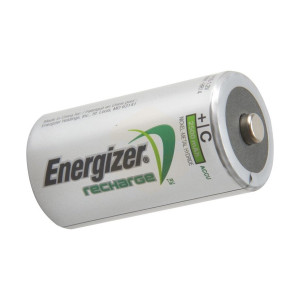 Energizer C Cell Rechargeable Power Plus Batteries RC2500 mAh - Pack of 2