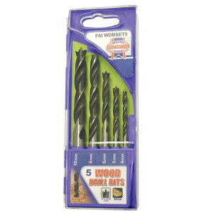 5 Piece Wood Drill Set