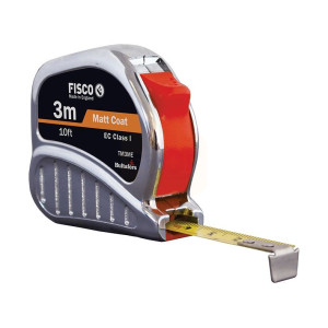Fisco TMC3ME Chrome Tri-matic Tape 3m/10ft (Width 13mm)