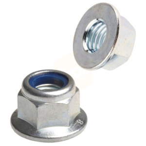 Flange Nyloc Nuts - Metric BZP
