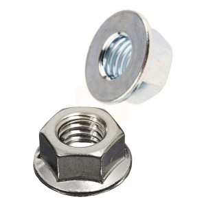 Hexagon Unserrated Flange Nuts Nuts - Zinc Plated BZP