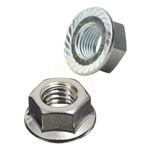 Hexagon Serrated Flange Nuts - Zinc Plated BZP