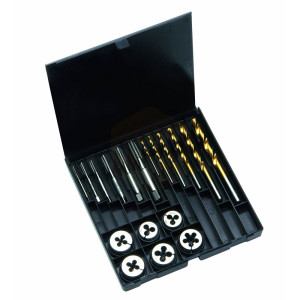 HSS Tap, Die & Drill Sets in Plastic Cases