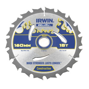 Irwin Weldtec Circular Saw Blades 160mm