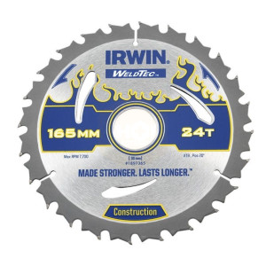 Irwin Weldtec Circular Saw Blades 165mm