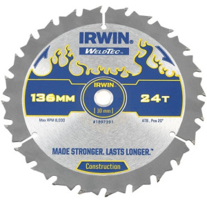 Irwin Weldtec Circular Saw Blades 136mm