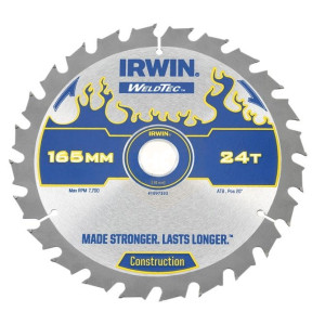 Irwin Weldtec Circular Saw Blades 165mm C