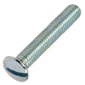 Slotted Raised Countersunk M3.5 Electrical Screws - Nickel Plated Brass