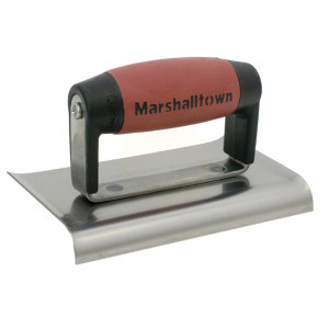 Marshalltown M136D Cement Edger Curved End Durasoft Handle 6 x 3in
