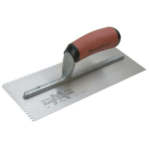 Marshalltown Notched Trowel 701SD Vee 3/16in Durasoft Handle 11 x 4.1/2in