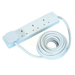 Masterplug White Extension Leads