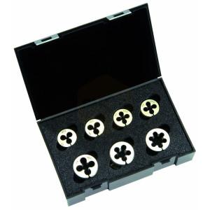 Metric Circular Die Sets in Plastic Case - M3-M12