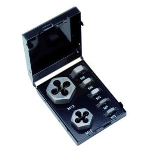Metric Hexagon Die Nut Sets in Metal Case - M3-M12