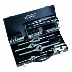 Metric HSS Tap, Die & Drill Set in Metal Case - M3-M12