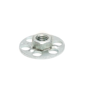 Mild Steel Hexagonal Nut - 23mm Round Sighted