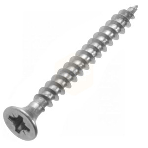 Pozidriv Countersunk Chipboard Screws - Stainless A2