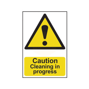 Scan Safety Sign - Caution Cleaning In Progress