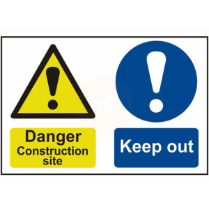 Scan Safety Sign - Danger Construction Site, Keep Out