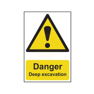 Scan Safety Sign - Danger Deep Excavation