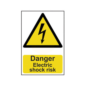 Scan Safety Sign - Danger Electric Shock Risk