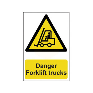 Scan Safety Sign - Danger Forklift Trucks