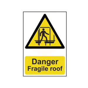 Scan Safety Sign - Danger Fragile Roof