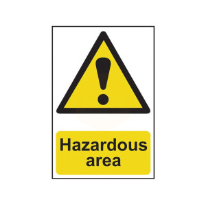 Scan Safety Sign - Hazardous Area