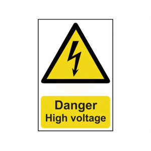 Scan Safety Sign - Danger High Voltage