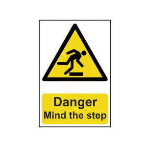 Scan Safety Sign - Danger Mind the Step
