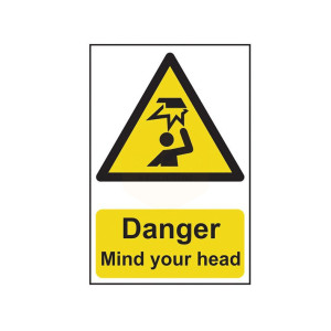 Scan Safety Sign - Danger Mind Your Head