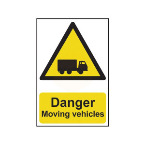 Scan Safety Sign - Danger Moving Vehicles