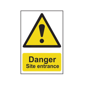 Scan Safety Sign - Danger Site Entrance