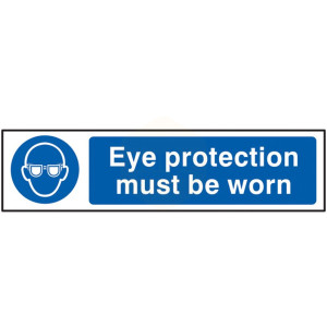 Scan Safety Sign - Eye Protection Must Be Worn