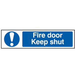 Scan Safety Sign - Fire Door Keep Shut