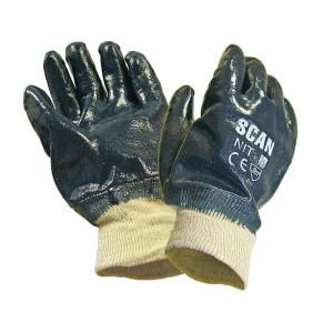 Scan Nitrile Knitwrist Heavy Duty Gloves