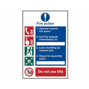 Scan Safety Sign - Fire Action Procedure