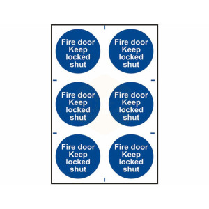 Scan Safety Sign - Fire Door Keep Locked Shut
